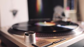 Turntable Playing Vinyl Record Close Up. / Template Concept / Video HD stock video footage