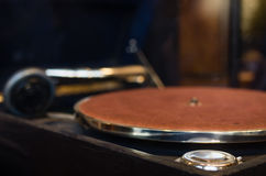 Turntable for playing vinyl records Royalty Free Stock Photos