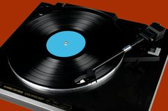 Turntable and Record Royalty Free Stock Photo