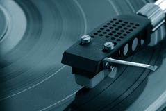 Turntable with record Royalty Free Stock Photos