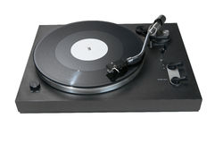 Turntable with a record including path Stock Image