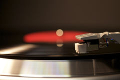 Turntable Record Player. Close-up of a turntable in motion Royalty Free Stock Photography