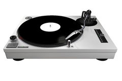 Turntable, silver, isolated Royalty Free Stock Images
