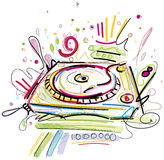 Turntable Sketch Stock Image
