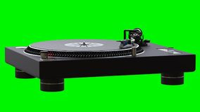 Turntable spinning vinyl records stock video