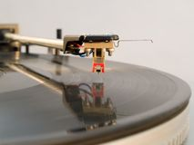 Turntable stylus. Discotheque hi-fi audio player Stock Photography
