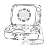 Turntable in a suitcase. Royalty Free Stock Photography