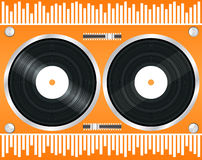 Turntable vector Royalty Free Stock Photography