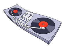 Turntable vector illustration Royalty Free Stock Images