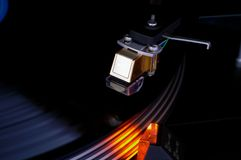 Turntable vinyl disk pickup cartridge Royalty Free Stock Images