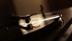Turntable Vinyl Ending stock footage