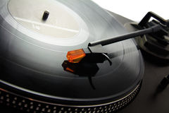 Turntable and vinyl record Stock Photo