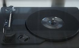 Turntable vinyl record player stock photography