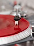 Turntable vinyl record player closeup Stock Image