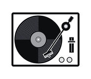 Turntable vinyl record player icon. vector. Turntable vinyl record player icon. analog audio equipment symbol isolated on white background. retro black vinyl Royalty Free Stock Photos