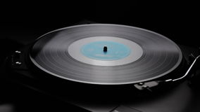 Turntable and vinyl record. Retro turntable and vinyl record stock video footage
