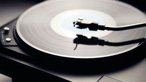 Turntable and vinyl record stock video