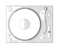 Turntable white A stock photos