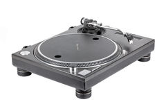 Turntable on white background Royalty Free Stock Image