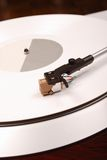 Turntable with white record Royalty Free Stock Photography
