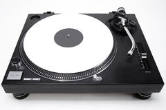 Turntable with white vinyl record Stock Photos