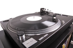 Turntable With Needle On Record Stock Image