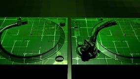 Turntables фанка DJ цифров иллюстрация вектора