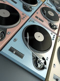 Turntables background Royalty Free Stock Photography
