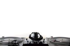 turntables för hörlurarblandareljud Arkivfoton