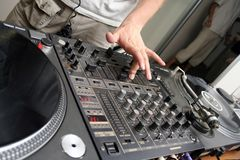 Turntables and spining record 4 Stock Photo