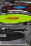 Turntables. Spinning in Broadway Market, Hackney, London, England, United Kingdom Stock Photography