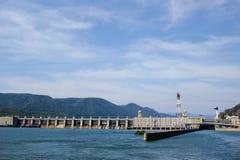 TURNU SEVERIN-ROMANIA, IL 16 SETTEMBRE: Il portone I Powe idroelettrico del ferro Fotografia Stock