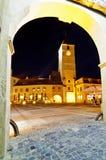 Turnul sfatului in sibiu Stock Image