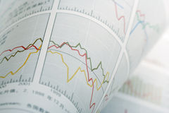 Turnup-Finanzdiagramm Stockfoto