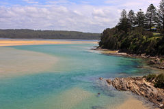 Tuross Heads, NSW, Australia. The river entrance at tuross heads. New South Wales, Australia Royalty Free Stock Photo