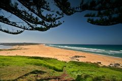 Tuross leidt Australisch Strand Royalty-vrije Stock Fotografie