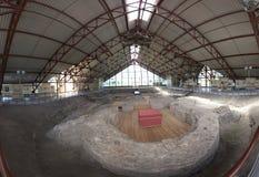 Turov,白俄罗斯- 2016年8月7日:12世纪寺庙历史和考古学复合体  Turov古镇  库存照片