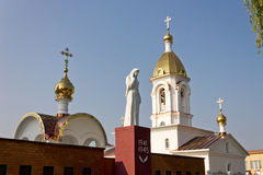 Turov, Belarus - 28 juin 2013 : Cathédrale des saints Cyrille et Lavrenti de Turov le 28 juin 2013 dans la ville de Turov, Belaru Photo stock