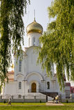 Turov, Belarus - June 28, 2013: Cathedral of Saints Cyril and Lavrenti of Turov June 28, 2013 in the town of Turov, Belarus Stock Photos