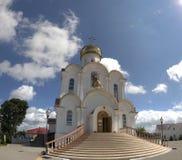 Turov, Bielorrússia - 7 de agosto de 2016: Catedral de Saint Cyril e Lavrenti Turov do 28 de junho de 2013 na cidade de Turov, Bi Foto de Stock Royalty Free