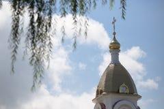 Turov, Bielorrusia - 7 de agosto de 2016: Catedral de los santos Cyril y Lavrenti Turov del 28 de junio de 2013 en la ciudad de T Imagen de archivo