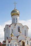 Turov, Bielorrusia - 7 de agosto de 2016: Catedral de los santos Cyril y Lavrenti Turov del 28 de junio de 2013 en la ciudad de T Imagen de archivo libre de regalías