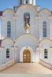 Turov, Bielorrusia - 7 de agosto de 2016: Catedral de los santos Cyril y Lavrenti Turov del 28 de junio de 2013 en la ciudad de T Foto de archivo libre de regalías