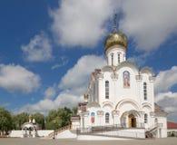 Turov, Bielorrusia - 7 de agosto de 2016: Catedral de los santos Cyril y Lavrenti Turov del 28 de junio de 2013 en la ciudad de T Fotografía de archivo
