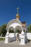 Turov, Bielorrusia - 7 de agosto de 2016: Catedral de los santos Cyril y Lavrenti Turov del 28 de junio de 2013 en la ciudad de T Fotografía de archivo libre de regalías
