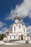 Turov, Bielorussia - 7 agosto 2016: Cattedrale dei san Cyril e Lavrenti Turov del 28 giugno 2013 nella città di Turov, Bielorussi Immagine Stock