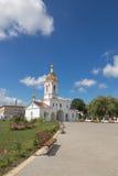Turov, Bielorussia - 7 agosto 2016: Cattedrale dei san Cyril e Lavrenti Turov del 28 giugno 2013 nella città di Turov, Bielorussi Fotografie Stock Libere da Diritti
