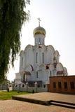 Turov, Bielorussia - 28 giugno 2013: Cattedrale dei san Cyril e Lavrenti Turov del 28 giugno 2013 nella città di Turov, Bieloruss Fotografia Stock