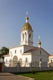Turov, Bielorussia - 28 giugno 2013: Cattedrale dei san Cyril e Lavrenti Turov del 28 giugno 2013 nella città di Turov, Bieloruss Immagini Stock