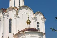 Turov, Bielorussia - 28 giugno 2013: Cattedrale dei san Cyril e Lavrenti Turov del 28 giugno 2013 nella città di Turov, Bieloruss Immagine Stock Libera da Diritti